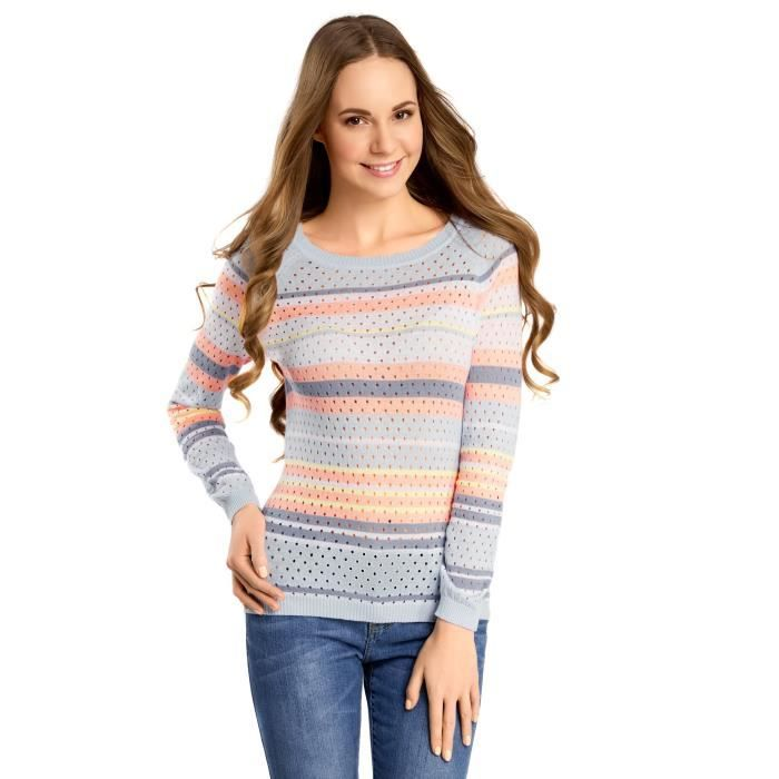 PULL Pull en maille fine perforé 3HOYWY Taille-38