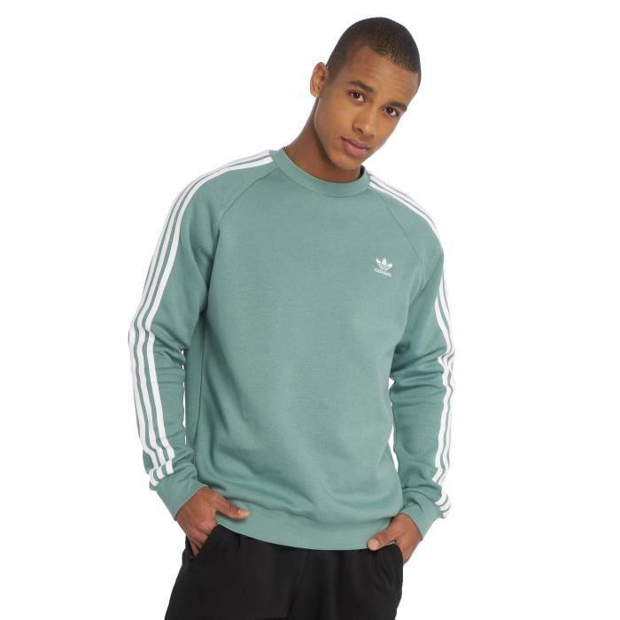 Adidas originals Homme Hauts / Sweat & Pull 3-Stripes Turquoise ...
