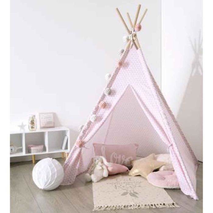 tipi d co enfant 160cm rose achat vente tente tunnel d 39 activit cdiscount. Black Bedroom Furniture Sets. Home Design Ideas