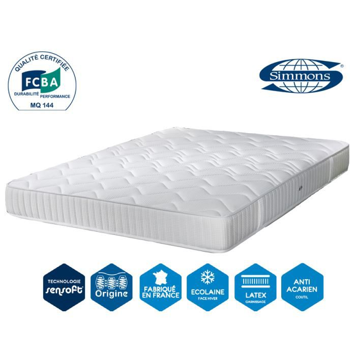 matelas performance luxe 23 cm 90 x 190 simmons achat vente matelas cdiscount. Black Bedroom Furniture Sets. Home Design Ideas