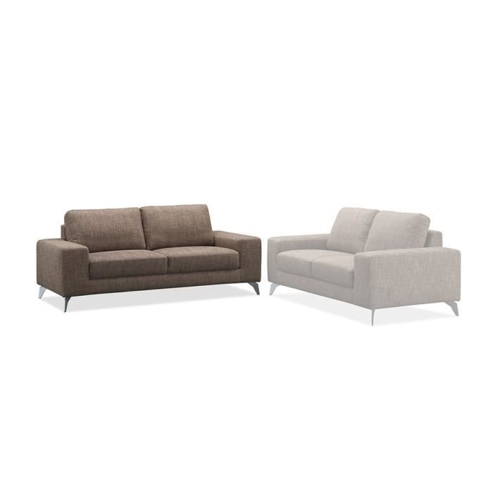 Canap 3 places switsofa urban tissu marron achat for Canape 3 2 places tissu