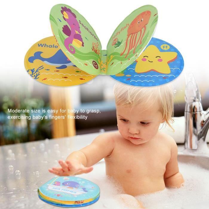 LIVRE D'ÉVEIL Livre de bain de bébé Jouets éducatifs imperméable