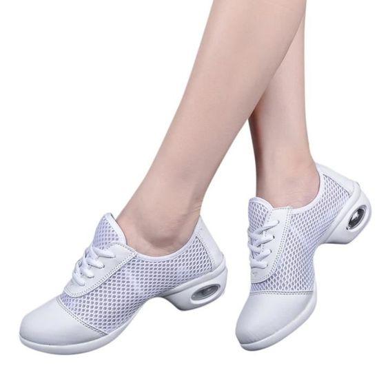 HROYL Chaussures de Sport Danse Femme Respirant Antid/érapant Mode Baskets pour Moderne//Jazz//Zumba,Mod/èle WXB52//SSB512