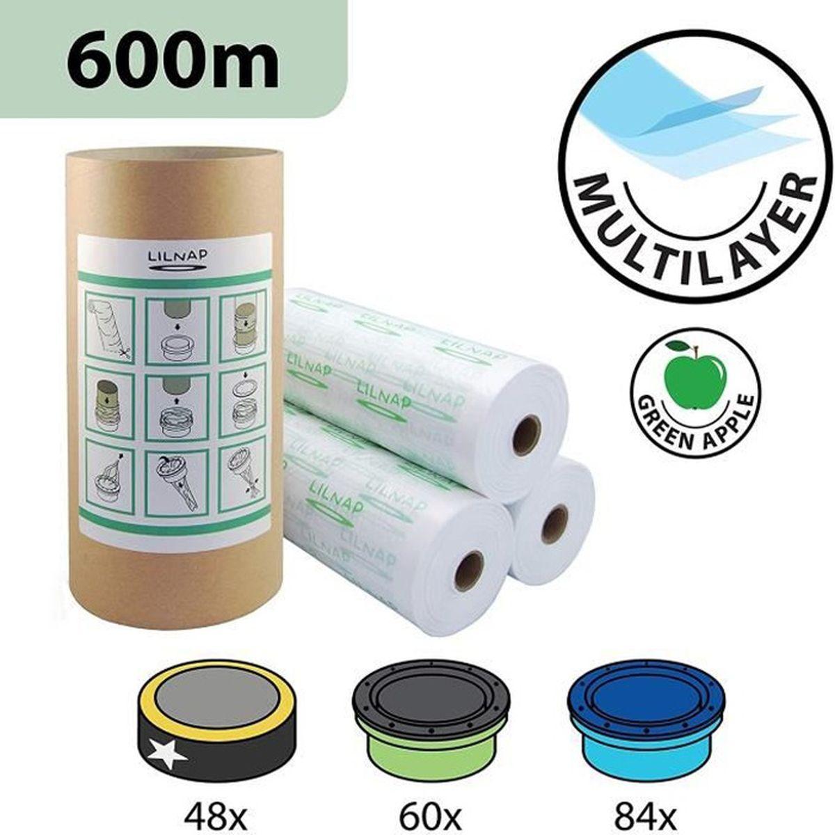 LILNAP Recharges Poubelle Multicouche Compatibles Sangenic tube en carton pour faciliter la recharge Angelcare Pour Poubelles /Ã/ Couches