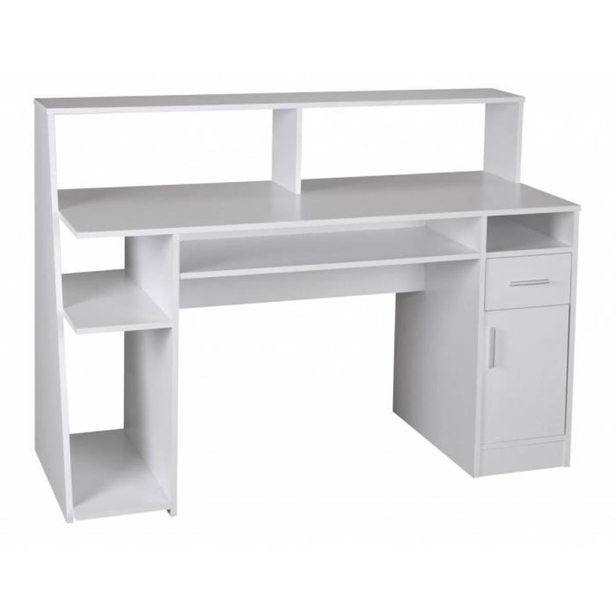 table d 39 ordinateur de bureau multifonctionnelle de table tablette de bureau blanc avec tiroirs. Black Bedroom Furniture Sets. Home Design Ideas