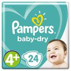 COUCHE Pampers Baby-Dry Taille 4+, 10-15 kg - 24 Couches
