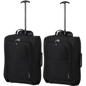 SET DE SACS DE VOYAGE 5 CITIES Set de 2 valises Mixte  - 55 cm - Noir