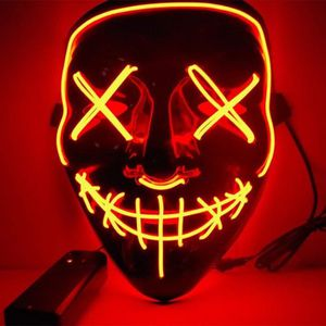 MASQUE - DÉCOR VISAGE Masque d'Halloween LED Light up Masque de Purge po