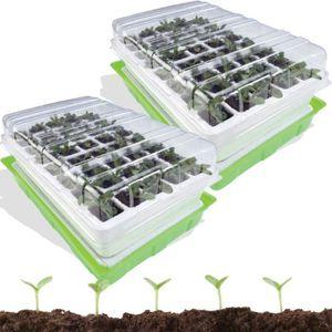GRAINE - SEMENCE kit de germination 40 godets lot X2