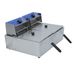 FRITEUSE ELECTRIQUE Friteuse électrique 2x10 litres professionnelle fr