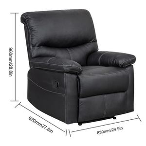 FAUTEUIL Fauteuil Relaxation Cuir LUXE avec repose-pied pli