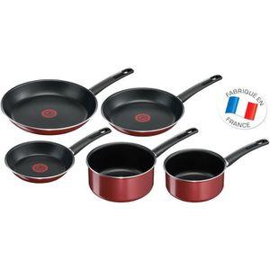 POÊLE - SAUTEUSE Tefal First Cook Set De 5 Pièces Poêles et Cassero
