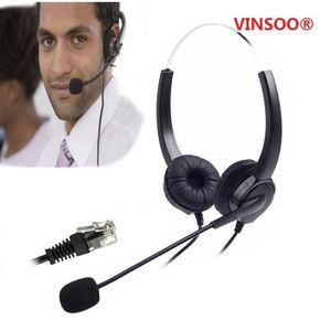 Kit piéton VINSOO®Dialpad Headset, Corded Phone Headset [Call