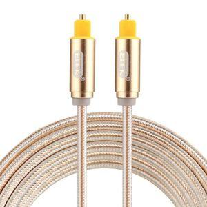 CÂBLE AUDIO VIDÉO Cables Optiques Audio EMK 2m OD4.0mm plaqué or tis