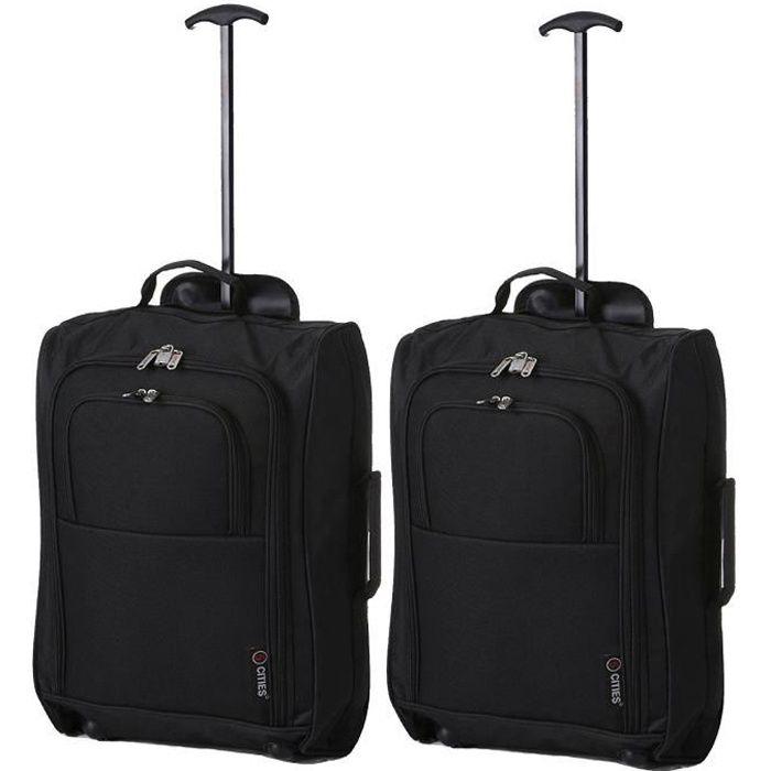 5 CITIES Set de 2 valises Mixte  - 55 cm - Noir