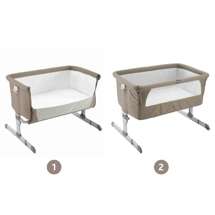 berceau et support chicco berceau cododo next 2 me dove grey - Lit Cododo