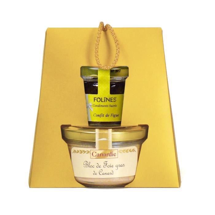CANARDIE Panier Duo Complicité, contient un bloc de foie gras de Canard et son confit de figue