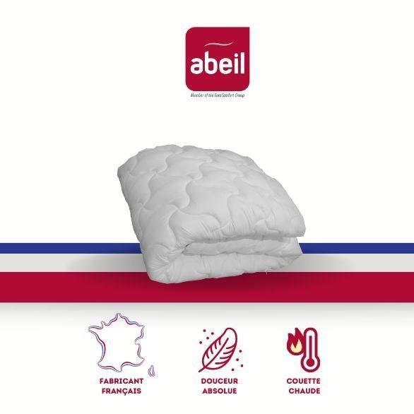 ABEIL Couette chaude Douceur Absolue 240x260 cm blanc