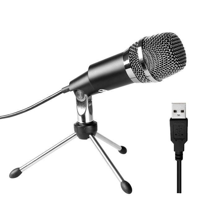 Microphone USB, Microphone à condensateur USB Home Studio...