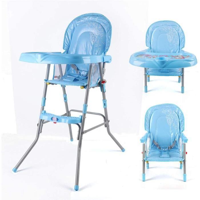 Chaise haute pliable pour bébé - Siège de sécurité - Siège de sécurité - Avec plateau alimentaire