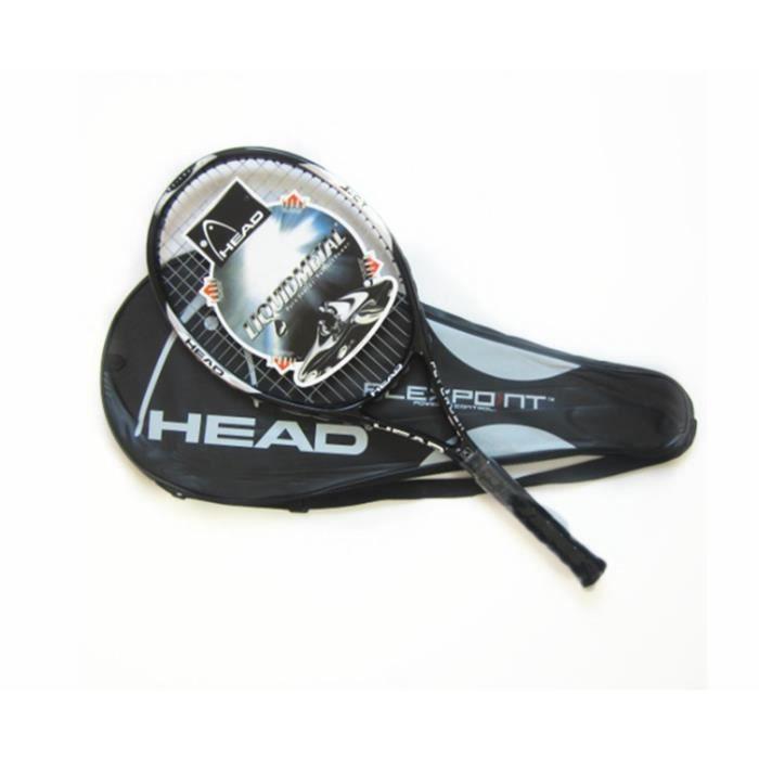 Raquettes de tennis en fibre de carbone ultra légères antichoc et anti-projection noir