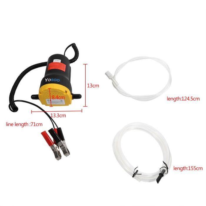 Qutianshop® Aspiration électrique de pompe d'extracteur de transfert de fluide d'huile diesel 12V pour le bateau de moto de voiture