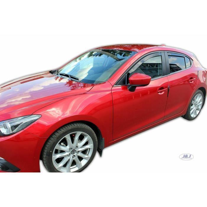 - Deflecteurs d'Air déflecteurs de vent Compatible avec Mazda 3 4/5 Portes 2013-2018 Htb/Berline 4 pièces