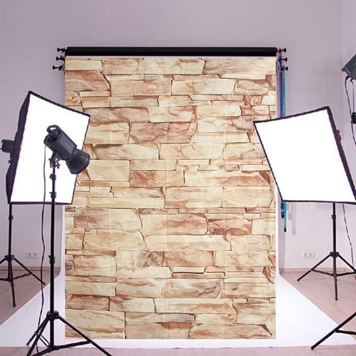 NEUFU Toile de Fond Tissu 2.1x1.5m Pierre Photographie Studio Photo COSwk22733