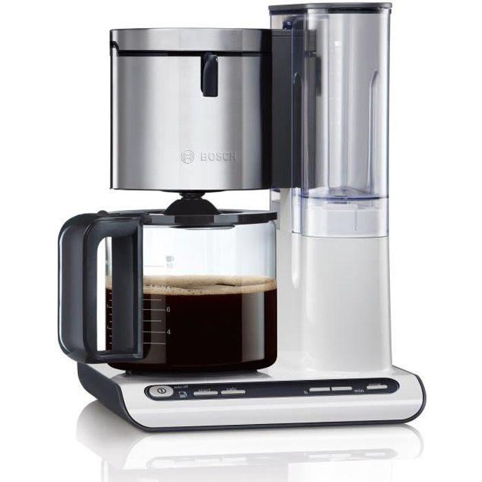 BOSCH TKA8631 Cafetière filtre programmable Styline – Blanc