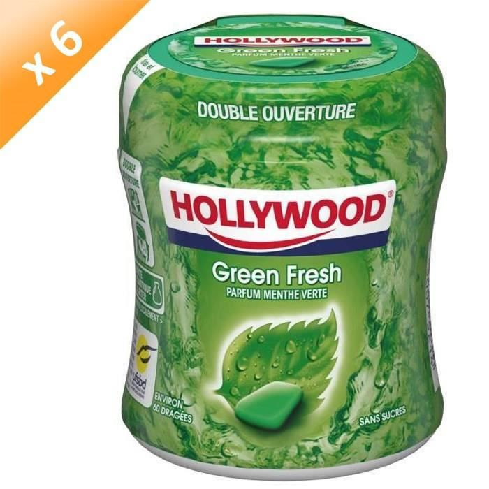 [LOT DE 6] MONDELEZ INTERNATIONAL Bottle Green Fresh 60 dragées Holly 87g