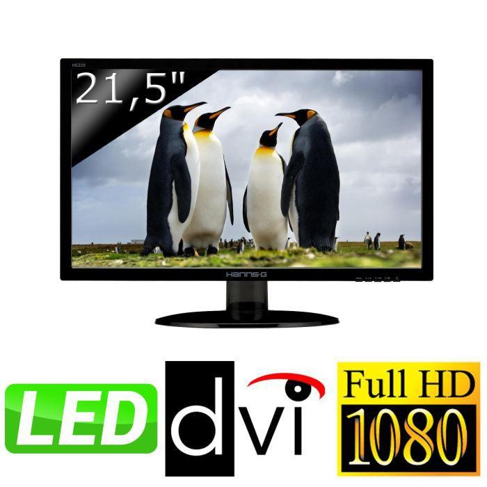HANNSPREE Écran LED HE225DPB 21.5- 16/9 1920 x 1080 250 cd/m2 5 ms haut-parleurs DVI-D/VGA