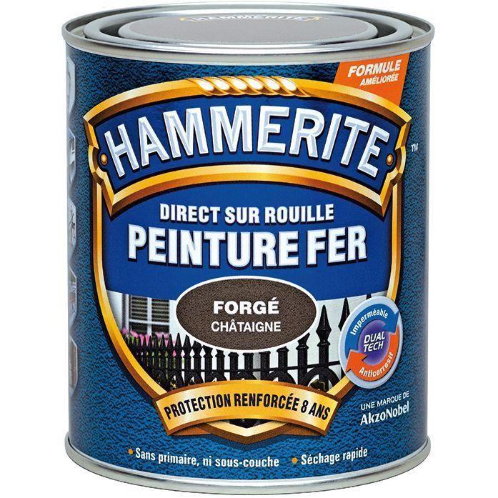 Peinture hammerite fer forgé 0.75 L - blanc