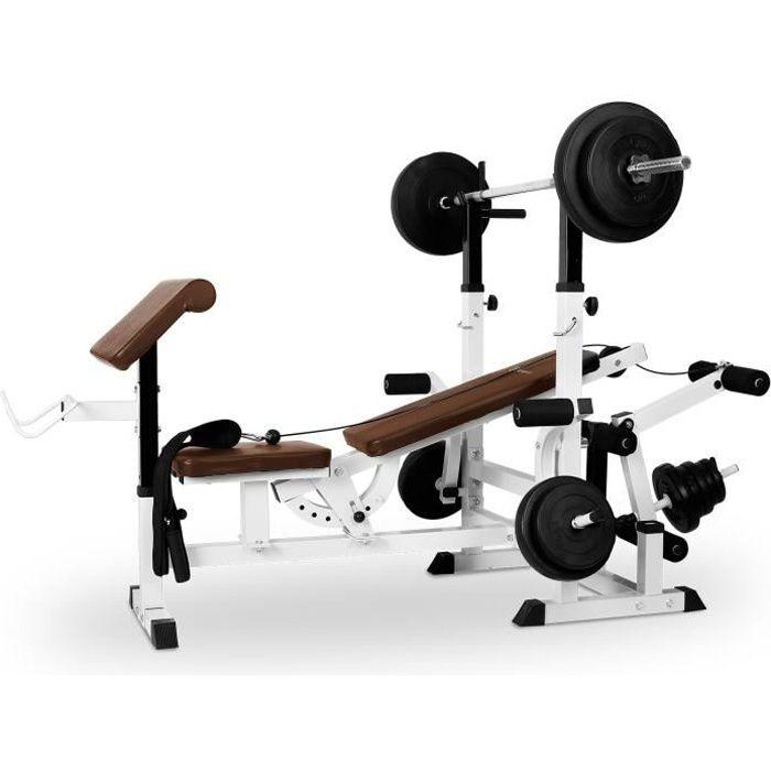 Klarfit Workout Hero 3000 Banc de musculation station à charge guidée curler but