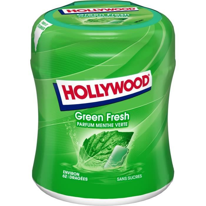 MONDELEZ INTERNATIONAL Bottle Green Fresh 60 dragées Holly 87g