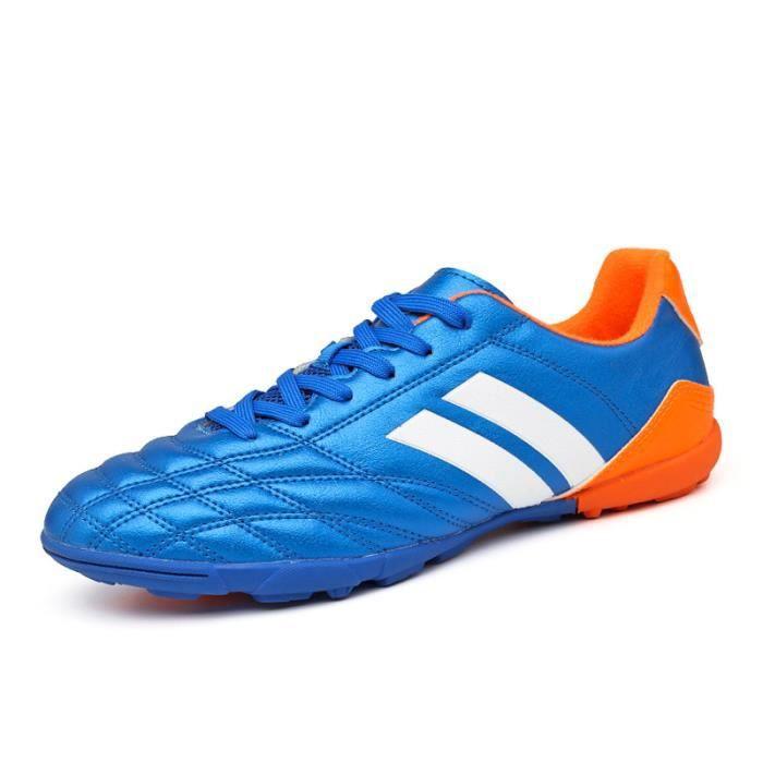Chaussures De Football Unisexe Basses Enfants Adultes Chaussure De Crampons Courts Pour Sport Running Hommes Femmes Adolescents AG