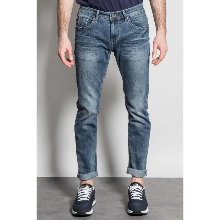 DEELUXE Jeans slim effet usé CARLOS Stone Used