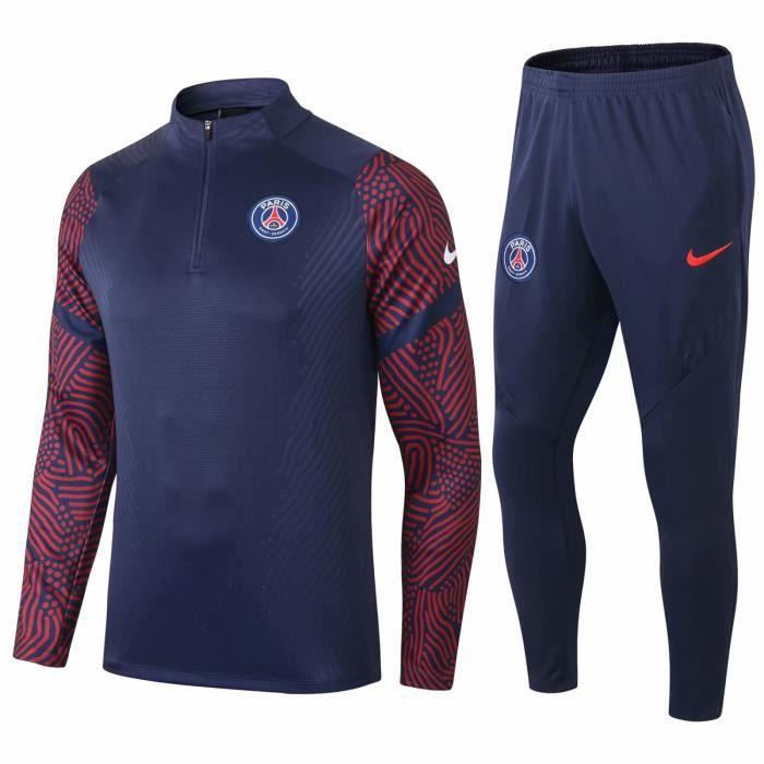Nouveaux Maillot Équipe de France 2 Etoiles 2020 2021 Maillot de Foot Football Pas Cher Survêtement Training pour Homme