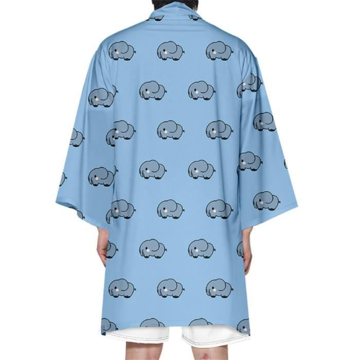 CARDIGAN Mixte - Nouveau Mode long Impression d'animal Cardigan - bleu Fa™