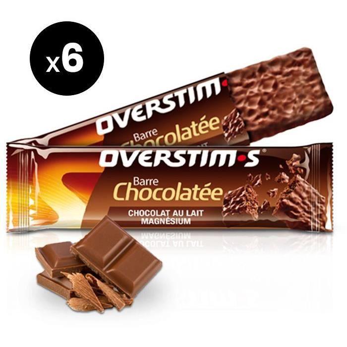 OVERSTIMS – Barre Chocolat Magnésium (6 barres)