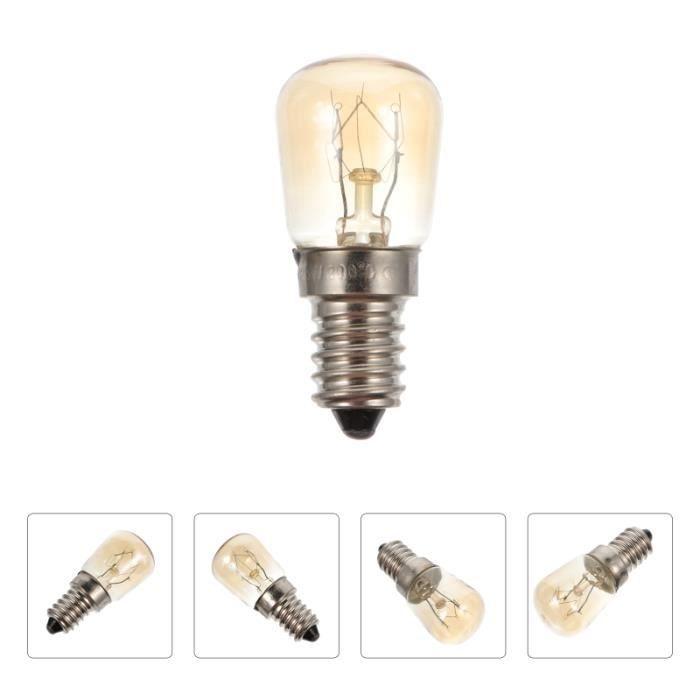 3 pièces E14 lampe de four 25 W résistant à la chaleur micro-ondes halogène ampoule appareil lumière