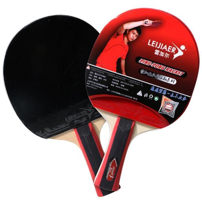 Raquettes de tennis de table Set Ping Pong Paddle Anti-slip Grip Raquette RAQUETTE DE TENNIS DE TABLE - CADRE DE TENNIS DE TABLE