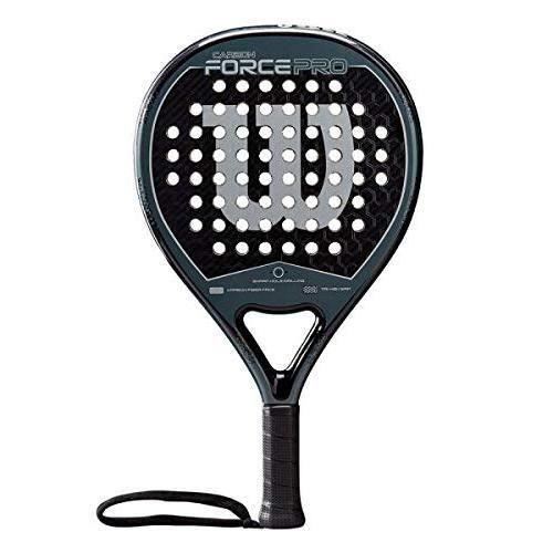 WILSON Raquette de padel , Carbon Force Pro, Unisexe, Noir/Gris, Noyau EVA/Carbone, 365g, Convient également pour le tennis de plage