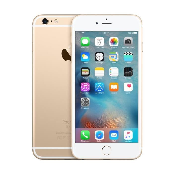 apple iphone 6s plus smartphone d bloqu 4g ecran 5 5 pouces 16 go ios 9 or achat. Black Bedroom Furniture Sets. Home Design Ideas