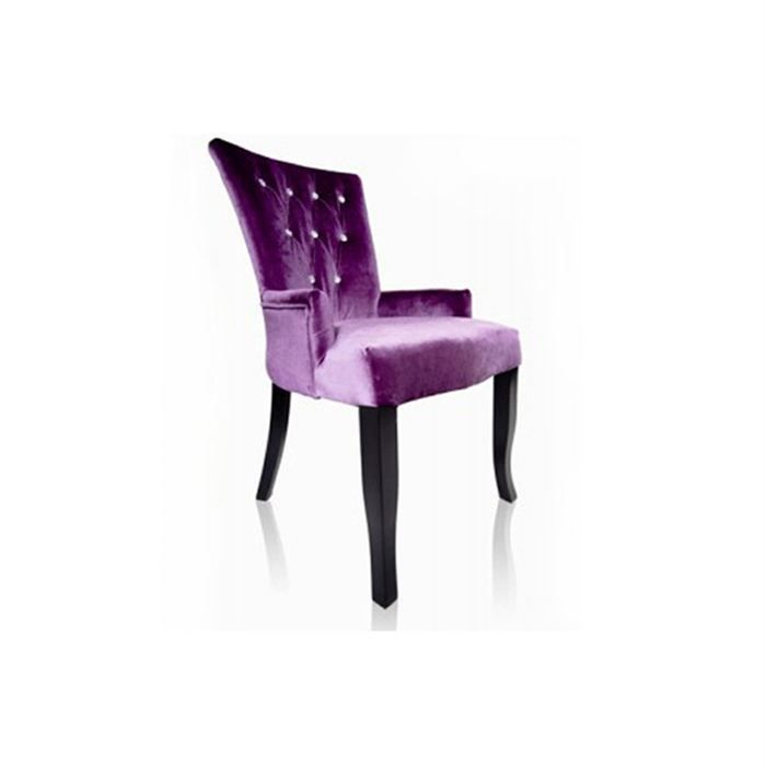 chaise capitonn e angel strass velours violet achat vente chaise velours bois cdiscount. Black Bedroom Furniture Sets. Home Design Ideas
