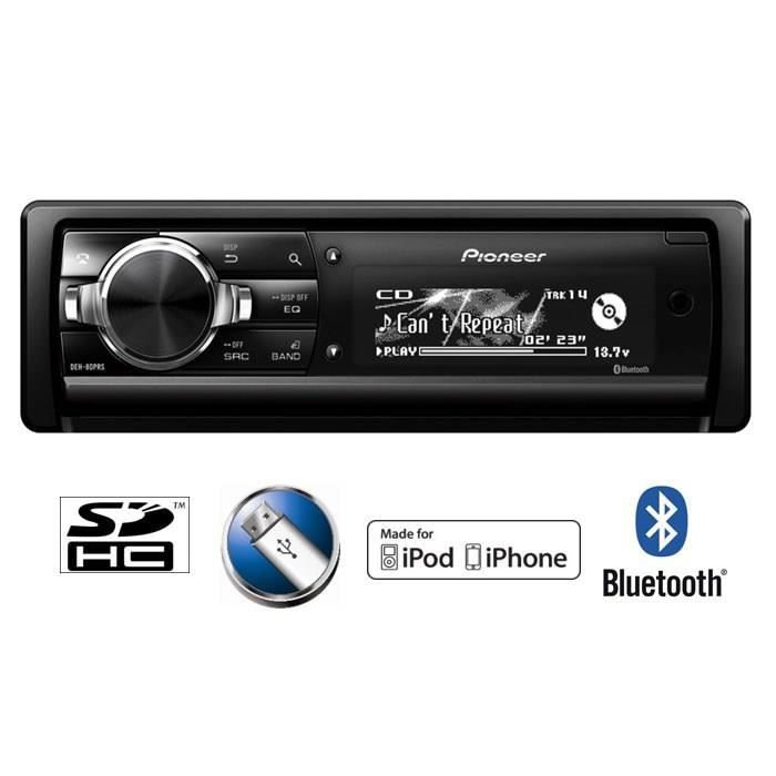 pioneer deh 80prs autoradio bluetooth ipod iphone achat vente autoradio pioneer deh 80prs. Black Bedroom Furniture Sets. Home Design Ideas