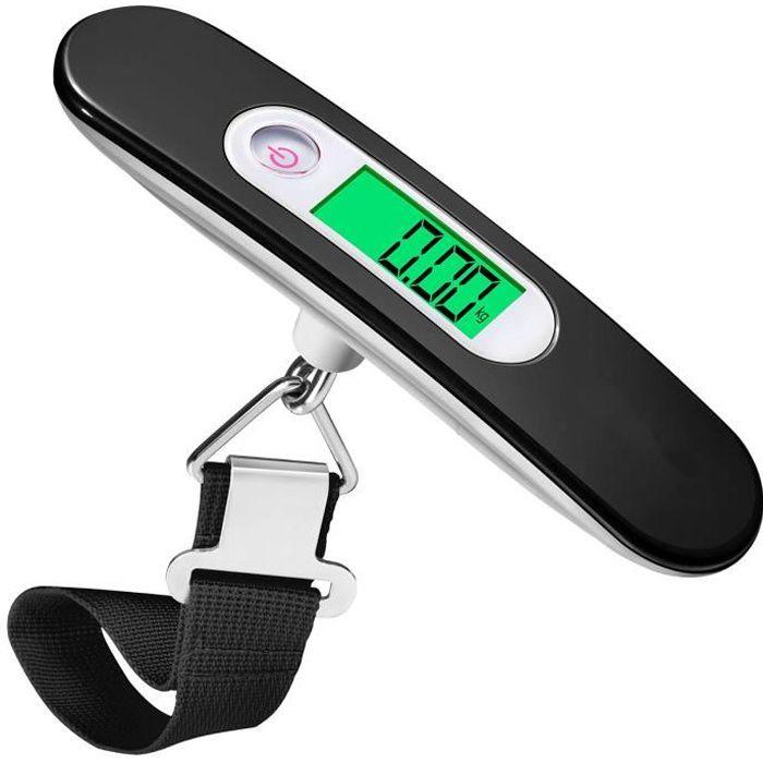 avec Corde Balances Portables Mini Balance /à Bagages Balances /électroniques Balances Express Noir