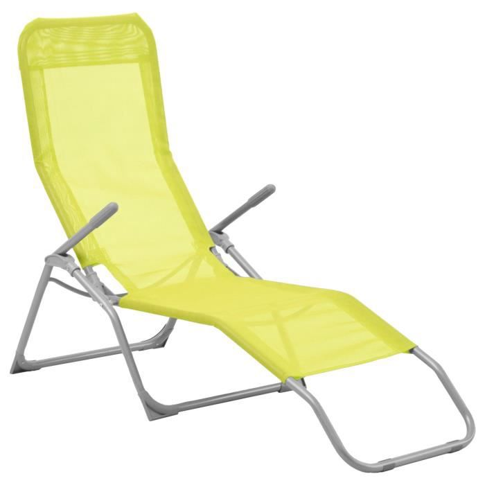 Transat chaise longue for Chaise piscine pas cher