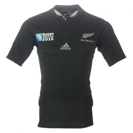 maillot domicile authentique all black wc 2015 achat vente maillot de rugby maillot domicile. Black Bedroom Furniture Sets. Home Design Ideas