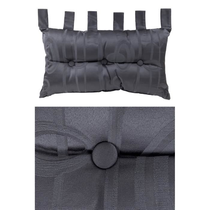coussin tete de lit polycoton 40 x 70 cm gris achat vente coussin cdiscount. Black Bedroom Furniture Sets. Home Design Ideas