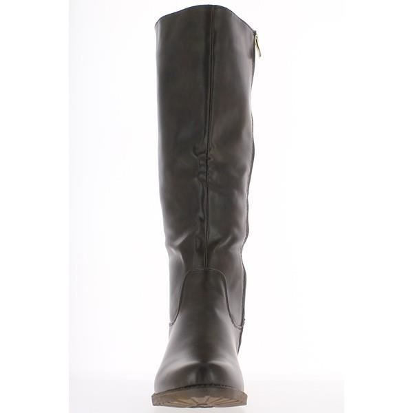 Bottes femme grande taille marro...